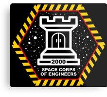 Space Cops of Engineers Metal Print