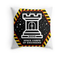 Space Cops of Engineers Throw Pillow