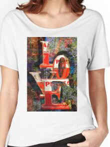 LOVE Happy Valentines day card Women's Relaxed Fit T-Shirt
