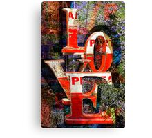 LOVE Happy Valentines day card Canvas Print