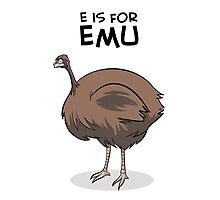 E is for Emu Photographic Print