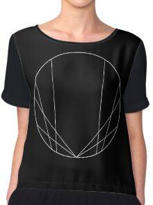 Geometric circle design - White Chiffon Top