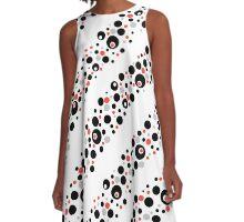Abstract polka dot pattern. A-Line Dress