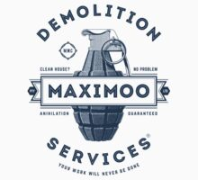 Maximoo Demolition Services [Muted Blue Mono] Kids Tee