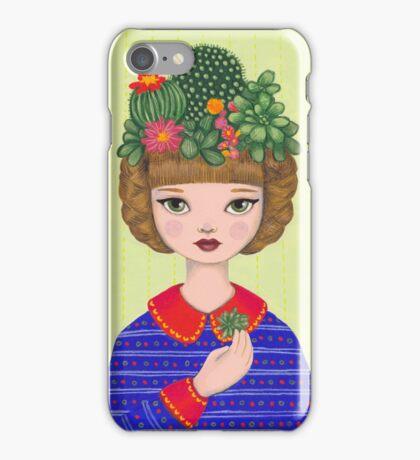 Cacti - girl with a Cacti garden iPhone Case/Skin