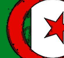 Algeria Map With Algerian Flag Sticker