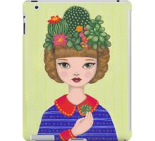 Cacti - girl with a Cacti garden iPad Case/Skin