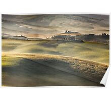 Val DOrcia pastures Poster