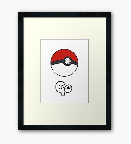Pokemon Go - Go Framed Print