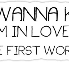 Cute Funny Quote Boyfriend Girlfriend Crush Love Sticker