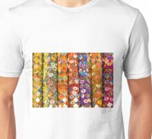 Colourful floral seemless background Unisex T-Shirt
