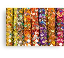 Colourful floral seemless background Canvas Print