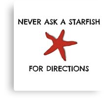Starfish Funny Random Animal Joke Canvas Print