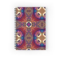 Fractal, mandala, pattern, art, science, spirituality, infinity, ornaments, dream, evolution, beautiful, kaleidoscope Spiral Notebook