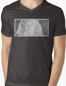 Gandalf the Grey Mens V-Neck T-Shirt