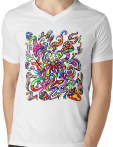 Psychedelic Mind Mens V-Neck T-Shirt