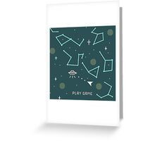 asteroids 8 bits Greeting Card