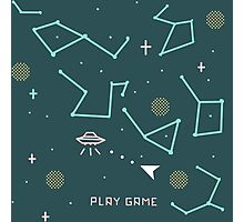 asteroids 8 bits Photographic Print