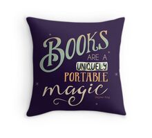 Books = Magic Throw Pillow