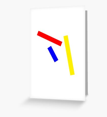 Abstract basic colors Greeting Card