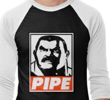 Haggar Pipe Obey Design Men's Baseball ¾ T-Shirt