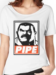 Haggar Pipe Obey Design Women's Relaxed Fit T-Shirt