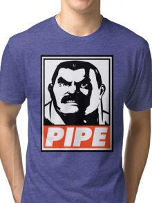 Haggar Pipe Obey Design Tri-blend T-Shirt