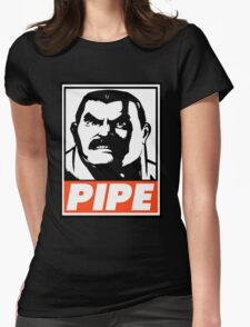 Haggar Pipe Obey Design Womens Fitted T-Shirt