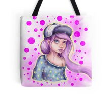 Skater Girl - Polkadot Pink Tote Bag