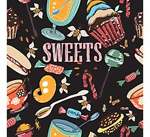 Hand drawn pattern. Sweets. Photographic Print