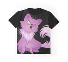 Pink Monster Cat For Halloween Graphic T-Shirt