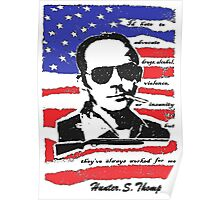 Hunter .S. Thompson. Poster