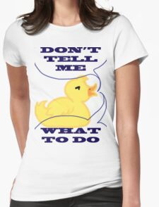 Feeling Ducky Womens Fitted T-Shirt