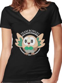 Team Rowlet Women's Fitted V-Neck T-Shirt