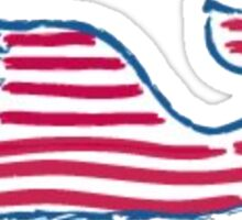 Vineyard Vines American Whale Sticker
