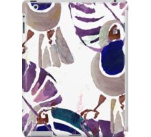 Hand drawn watercolor seamless pattern of tropical birds.  iPad Case/Skin