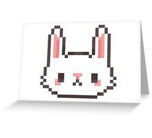 Pixel Bunny Greeting Card