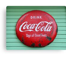 Vintage Coke sign Canvas Print