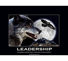 Leadership Grey Wolf and Raven Artwork Photographic Print