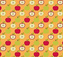 Vintage Autumn Apples by MooshuJenne