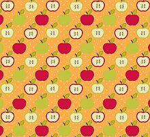 Vintage Autumn Apples by MooshuJenne