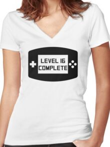 Level 16 Complete 16th Birthday Women's Fitted V-Neck T-Shirt