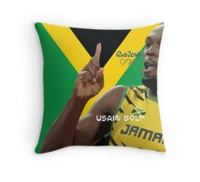 USAIN BOLT Throw Pillow