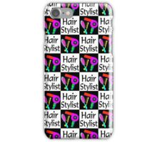 STYLISH AND CHIC HAIR STYLIST DESIGN iPhone Case/Skin