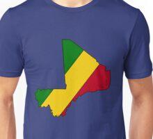 Mali Map With Malian Flag Unisex T-Shirt