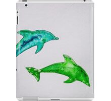 Dolphins in green iPad Case/Skin