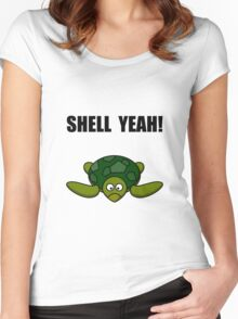 Shell Yeah Turtle Women's Fitted Scoop T-Shirt