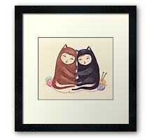 The Love Cats Framed Print