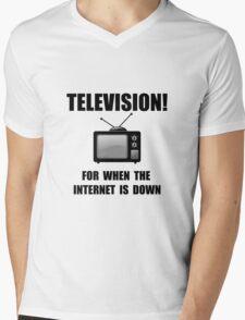 Television Internet Down Mens V-Neck T-Shirt