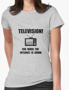 Television Internet Down Womens Fitted T-Shirt